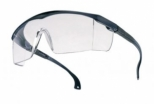 Spectacles -blue nylon frame -adjustable temples pivoting -clear PC anti-scratch