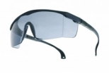 Spectacles -blue nylon frame -adjustable temples pivoting -mid smoke PC anti-scratch